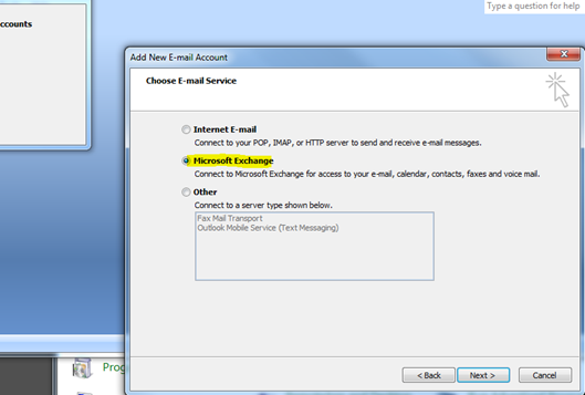 Manually Configure Outlook 2007 Office 365