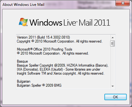 setting up windows live mail support one com