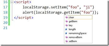 Visual Studio 2010 HTML5 Webstorage localstorage