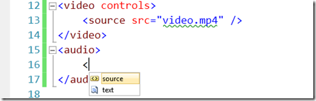 Visual Studio 2010 HTML5 media