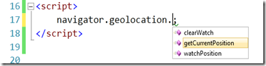 Visual Studio 2010 HTML5 Geolocation Geolocalisation