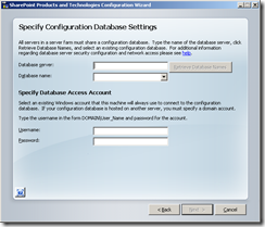 Specify Database Settings