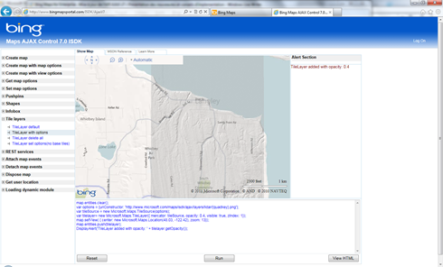 Bing Maps Interactive SDK v7