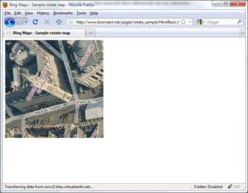 Rotation jQuery and CSS3 Bing Maps Control in bird eye view with labels