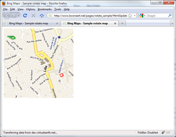 Rotation jQuery and CSS3 Bing Maps Control in bird eye view with labels updated with canvas