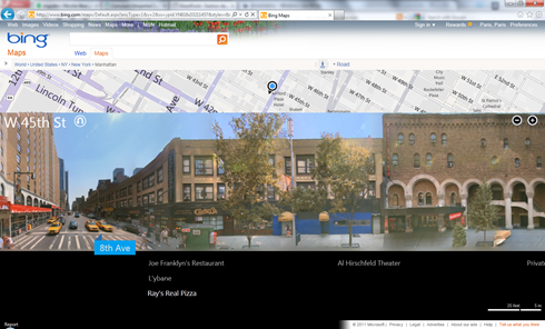 Bing Maps Streetside streetslide and blockview - version 7