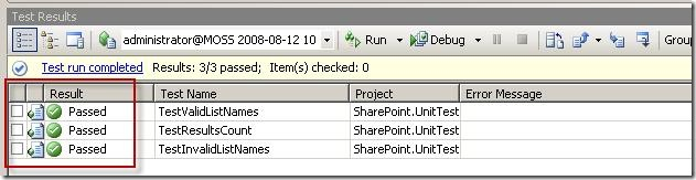 UnitTestSharePoint