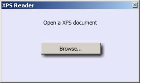 XPSReader - Open document