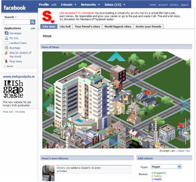 My city - Facebook application